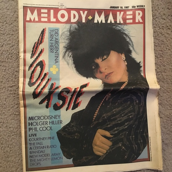 1987 Siouxsie on Melody Maker from U.K.